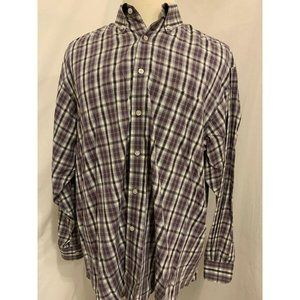 Roundtree & Yorke Long Sleeve Button Front Shirt